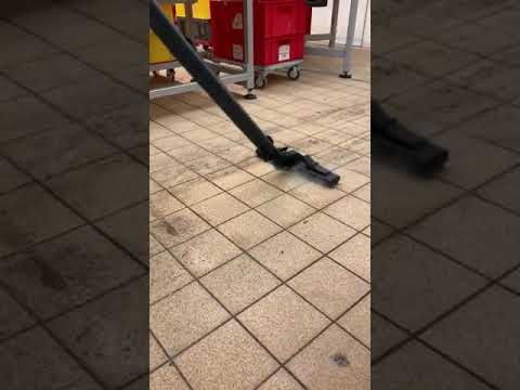 Cleaning Tile Floor with Steam