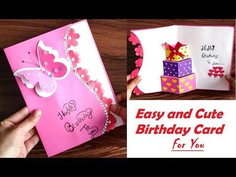 DIY - Beautiful Handmade Birthday Card idea - GREETING cards for birthday