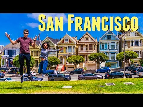San Francisco Travel VLOG 2017 Full House Painted Ladies Fortune Cookie Factory Things to do SF 4K