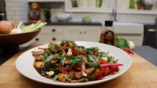 Asian Chicken Stir Fry With Sweet Basil And Cashew Nuts