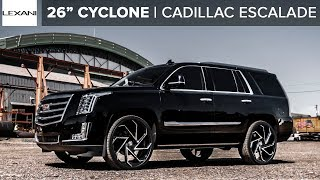 "Cadillac Escalade Gets New 26"" Custom Lexani Wheels"