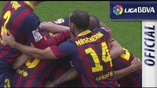 Amazing goal of Alexis 1-0 FC Barcelona - Atltico Madrid