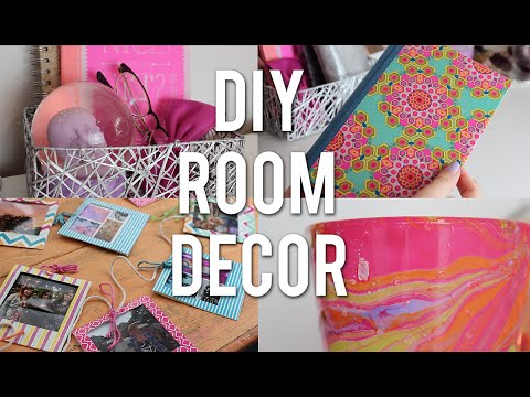 affordable diy room decor inspired by pinterest and tumblr youtube. Black Bedroom Furniture Sets. Home Design Ideas