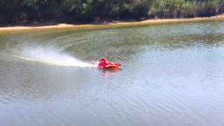rc turbine jetboat test run on river australia for sale