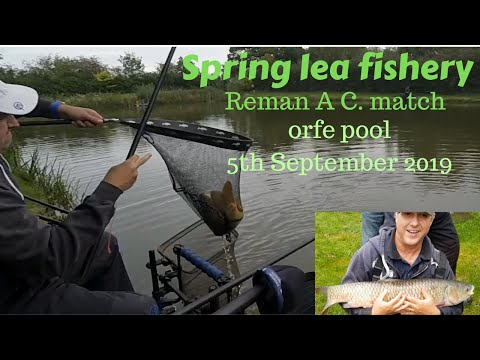 Reman A C. Fishing Match At Spring Lea Fishery On Orfe Pool 5th September 2019