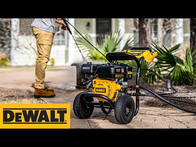 DEWALT PRESSUREADY® 3400 PSI at 2.5 GPM Gas-Powered Cold-Water Pressure Washer  – Now Available