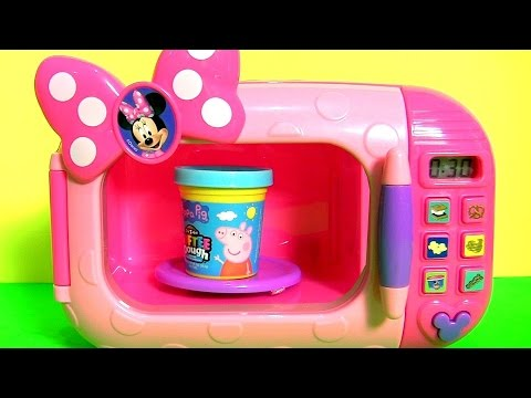 Thumbnail: Softee Dough Peppa Pig Magic Microwave Oven Toy Surprise Mashems & Fashems Backpack Cooking Surprise