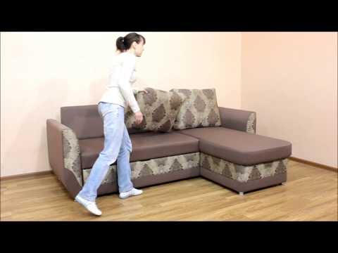Татьяна, угловой диван. Фабрика Катунь. Механизм Дельфин