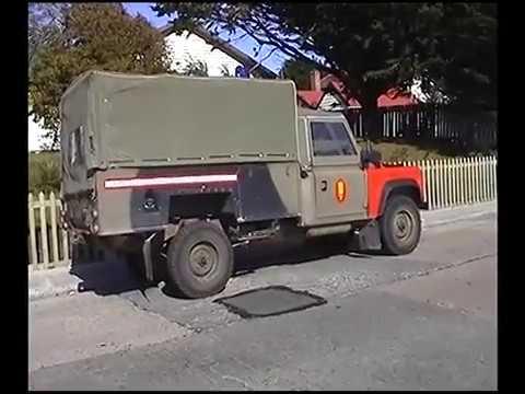 Raw footage of walking along Ross Road in Stanley, Falkland Islands