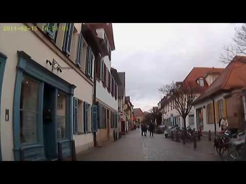 D: Erlangen. Fahrt durch die Innenstadt. Februar 2014