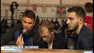 Meeting des Sacres 2018-60m haies hommes Semifinal 2-Benjamin Sedecias