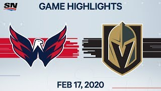 NHL Highlights | Capitals vs. Golden Knights - Feb. 17, 2020