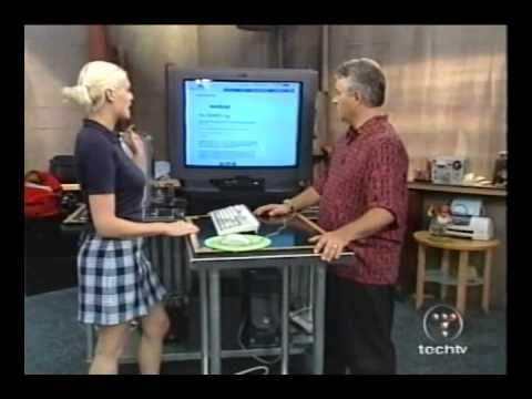 Morgan Webb, The Screen Savers 2002 old set