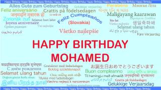 Mohamed   Languages Idiomas - Happy Birthday