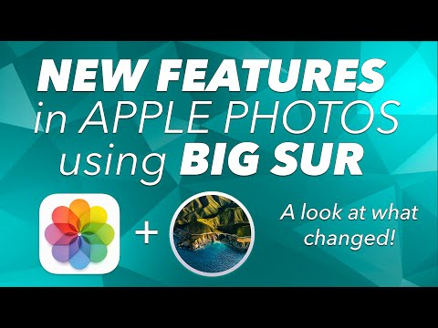 NEW FEATURES in APPLE PHOTOS using BIG SUR