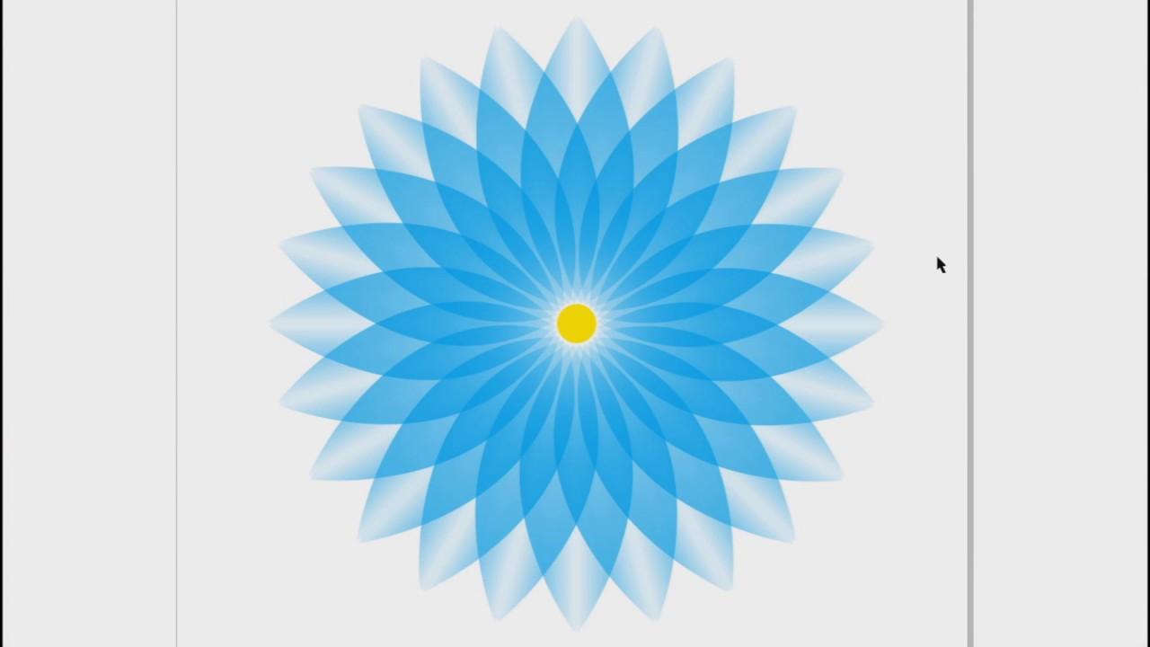 Corel Draw Creativity Flower Design Or Rangoli Design Youtube