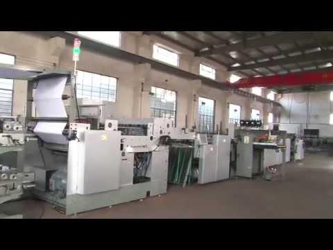 HL 1020B Automatic Flexo Printing Exercise Book making machine & Notebook Making machine