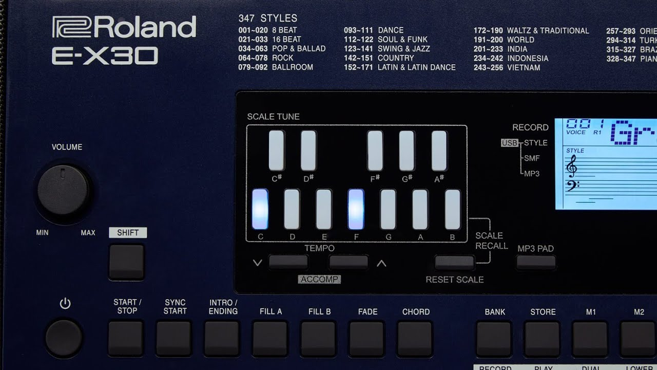 Roland EX30 FEATURES AND SPECIFICATIONS PRICE IN INDIA?? by V Rock & pop  musical