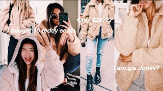 Testing affordable teddy coats!!