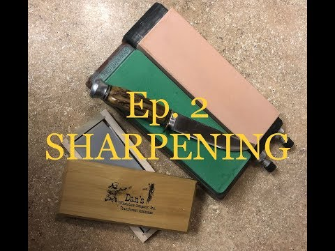 How To Sharpen A Hunting Knife- Ep. 2- SHARPENING