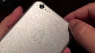 Slickwraps silver brushed steel iPhone 6 Plus metal series vinyl decal wrap skin