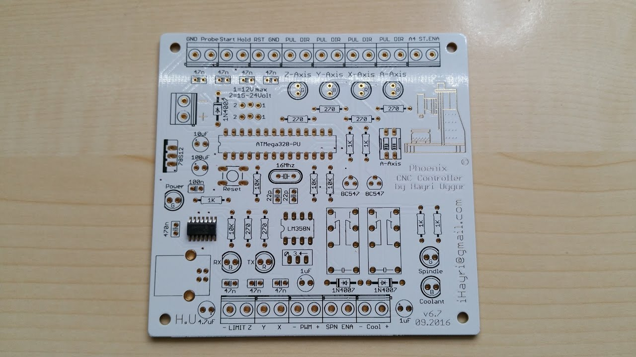 Snap Cnc Usb Controller Making Pcb For Youtube Campod Breakout Board Machine Control Phoenix Stepper Driver From Elecrow