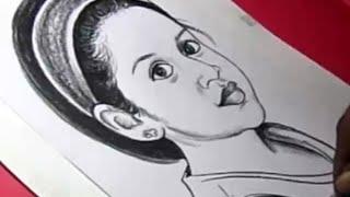 How to Draw Tamil Film HERO SURYA Daughter Drawing