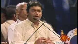 AR RAHMAN SPEECH IN FELICITATES PROGRAM @ SUN TV