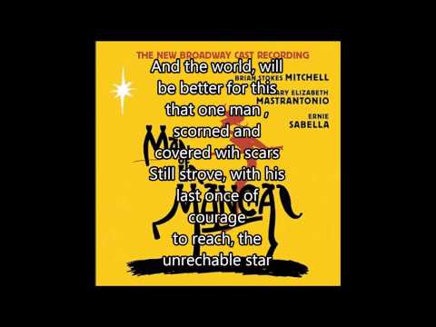 The Impossible Dream-Brian Stokes Mitchell ( W/ Lyrics)