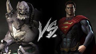 Injustice Gods Among Us - Doomsday Vs. Superman (VERY HARD)