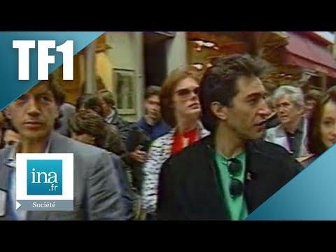 Manifestation des artistes contre la privatisation de TF1 | Archive INA