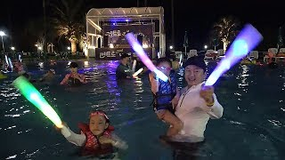 Midnight pool party in Jeju Island | LoveStar pretend play