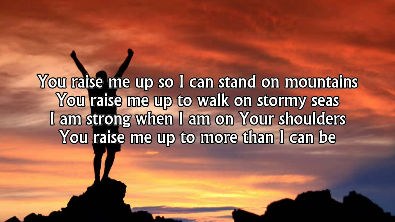 Nov 11,  · You Raise Me Up Lyrics: When I am down and, oh my soul, so weary / When troubles come and my heart burdened me / Then, I am still and wait here in the silence / Until you come and sit a while with me..