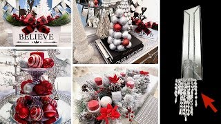 DIY Dollar Tree Christmas Decor | DIY MIRROR Wall Sconces! | LGQUEEN Home Decor