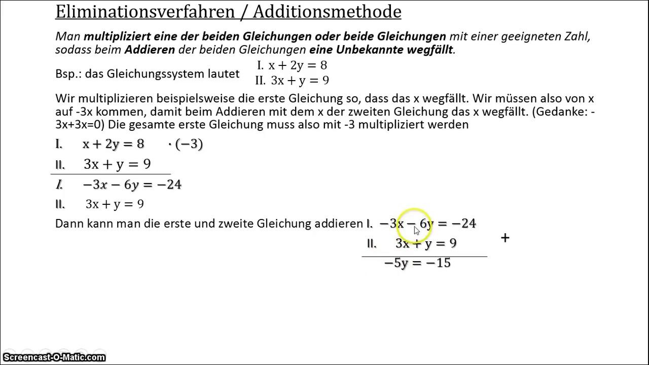 Contemporary Gleichungssysteme Eliminierungsverfahren Arbeitsblatt ...