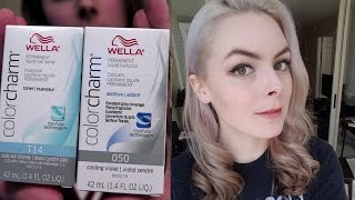 Dyeing my Hair Silver (with Wella Colorcharm T14 & Purple Conditioner)