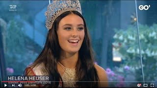 Miss Danmark 2016 - Helena Heuser i Go' aften Danmark på TV2