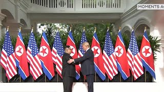 President Trump meeting with North Korean leader Kim Jong Un