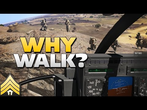 Why walk? - Arma 3 MH-6 Transport