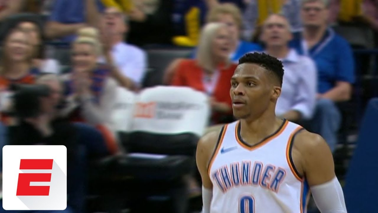 Russell Westbrook clinches third straight triple-double season