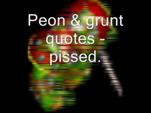Warcraft Ii Peon Grunt Quotes Youtube