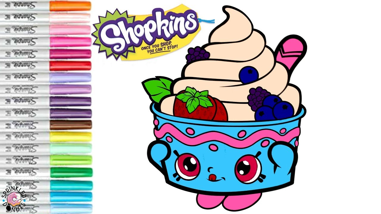 Coloring Shopkins Yo Chi Poppy Corn Shopkins Coloring Book Page | SPRiNKLED  DONUTS