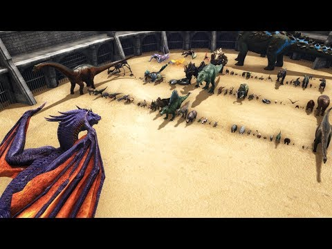 DRAGON Vs ALL OTHER CREATURES In ARK & DodoRex || Cantex