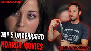 Drumdums TOP 5 UNDERRATED HORROR MOVIES (Killer Flicks Edition!)