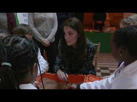 The Duchess of Cambridge attends a children's tea party at the Natural History Museum