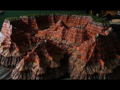 Grand Canyon model building