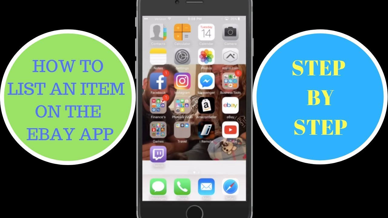 How To Sell An Item On The Ebay App Step By Step Youtube