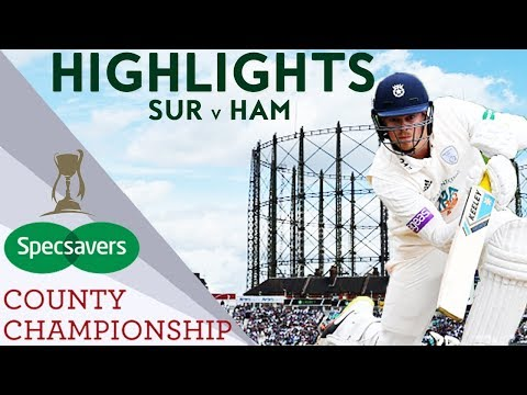 Northeast Makes Maiden Hampshire Ton Against Impressive Surrey - County Championship 2018 Highlights