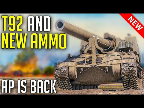 NEW Artillery Ammo Useless? | World of Tanks T92 HMC Gameplay - SandBox Artillery Rework