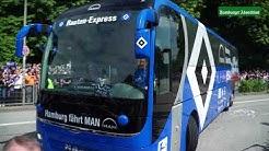 HSV - Mönchengladbach: Einfahrt des HSV-Bus